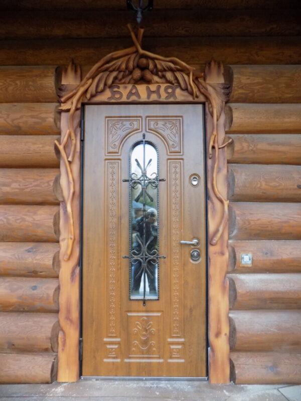 """Наличник резной для двери """"Баня"""""""