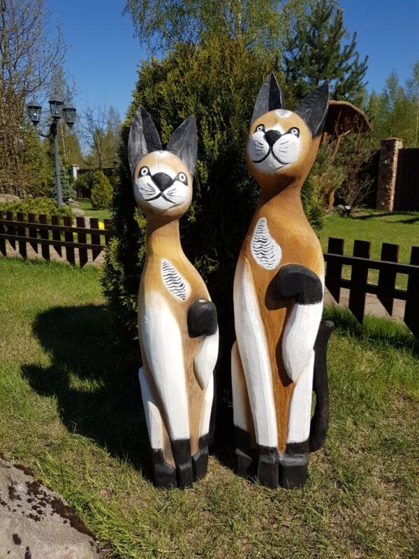 Скульптуры Кошечка с котом