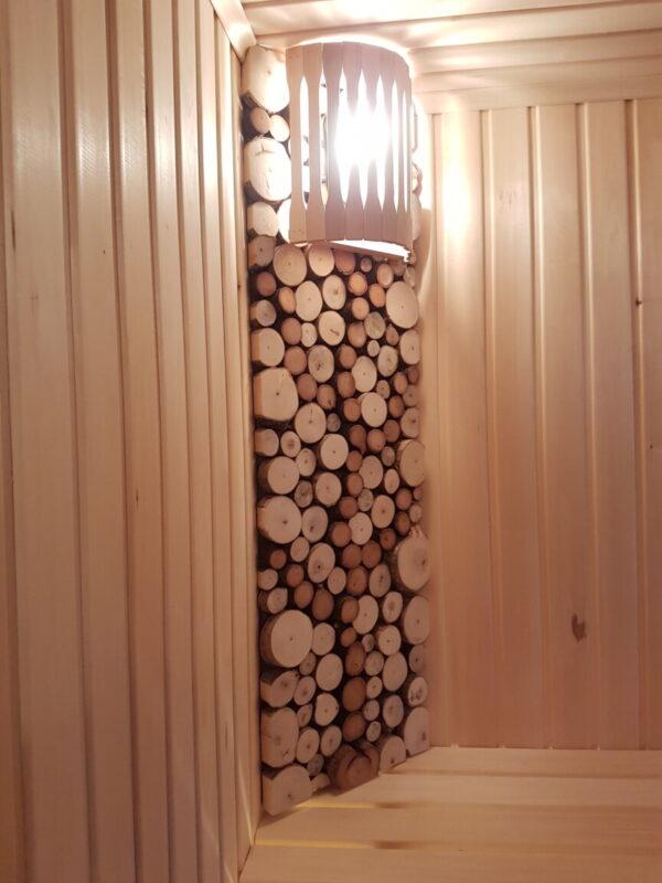 Оформление парной спилами дерева
