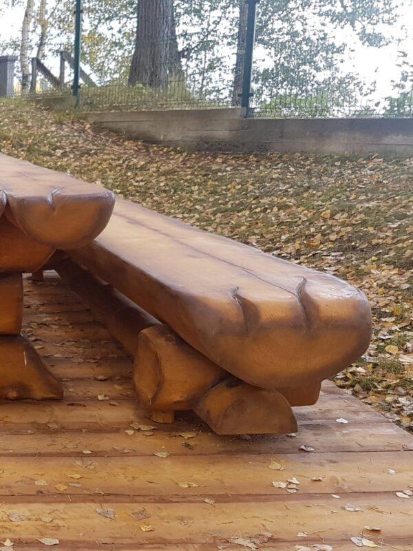 Скамья рубленая «Псковская»