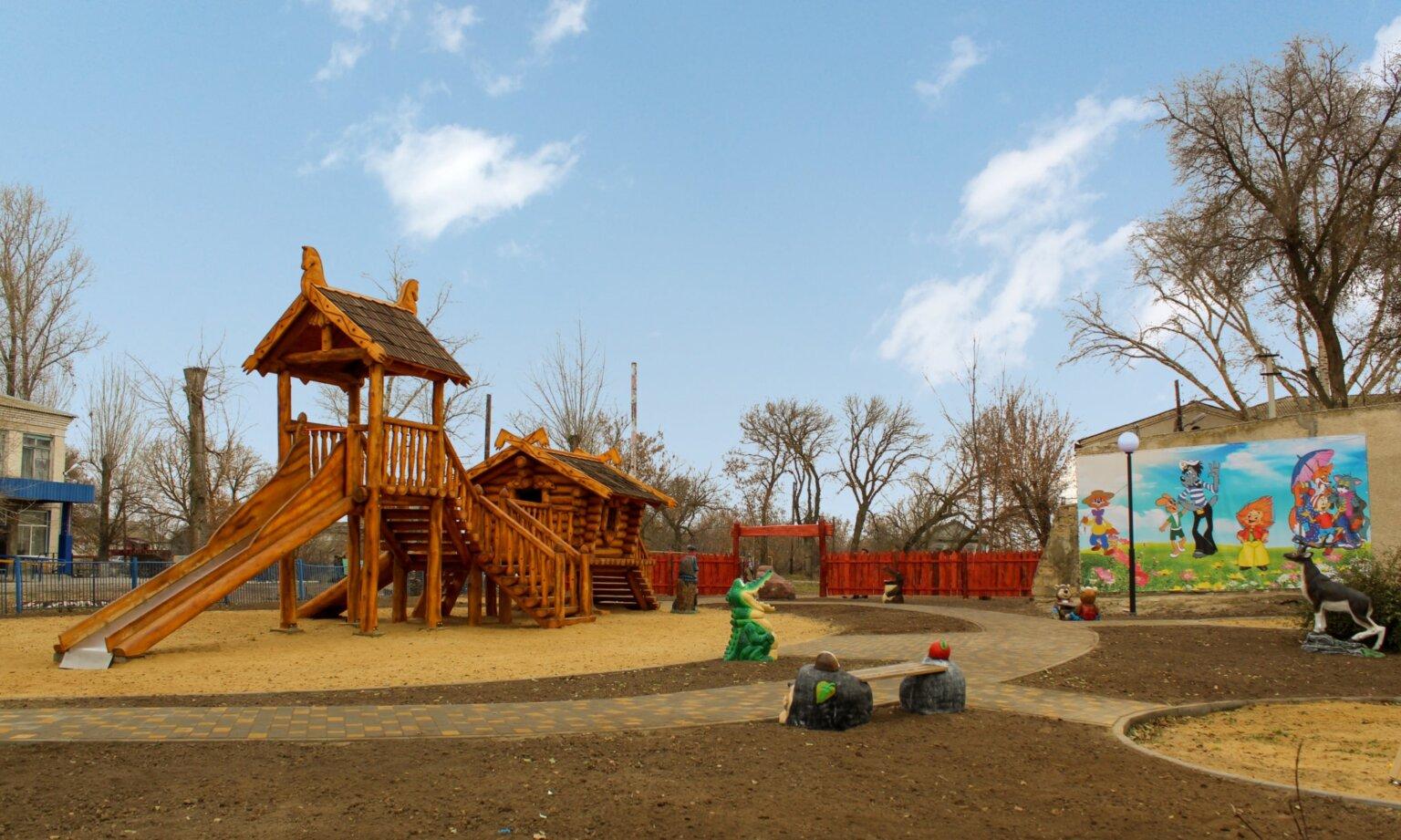 Оформление общественной детской площадки