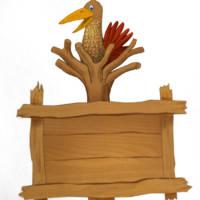 Информационный щит Птица