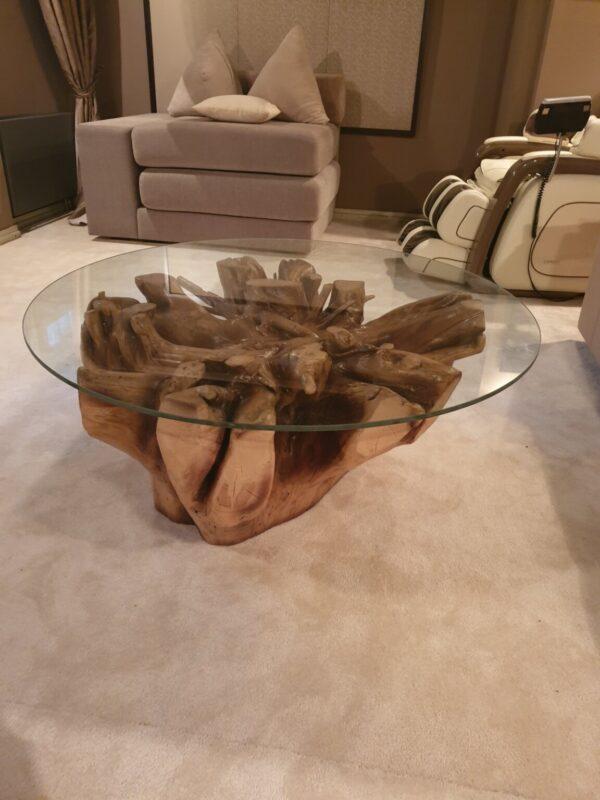 Стол кофейный из корня