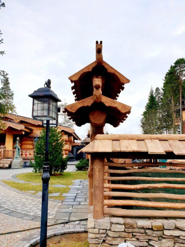 """Ворота """"Старорусские"""" с крышей"""