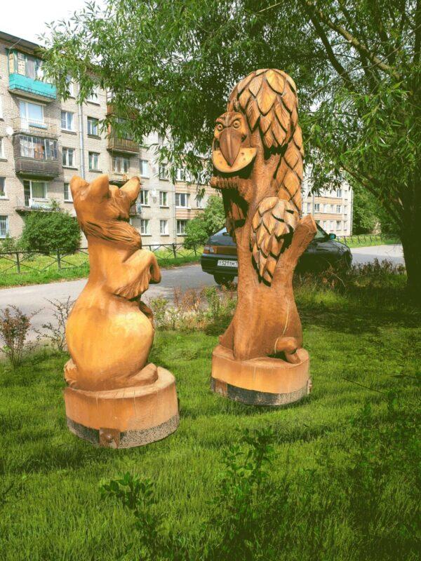Фигура Ворона и лисица